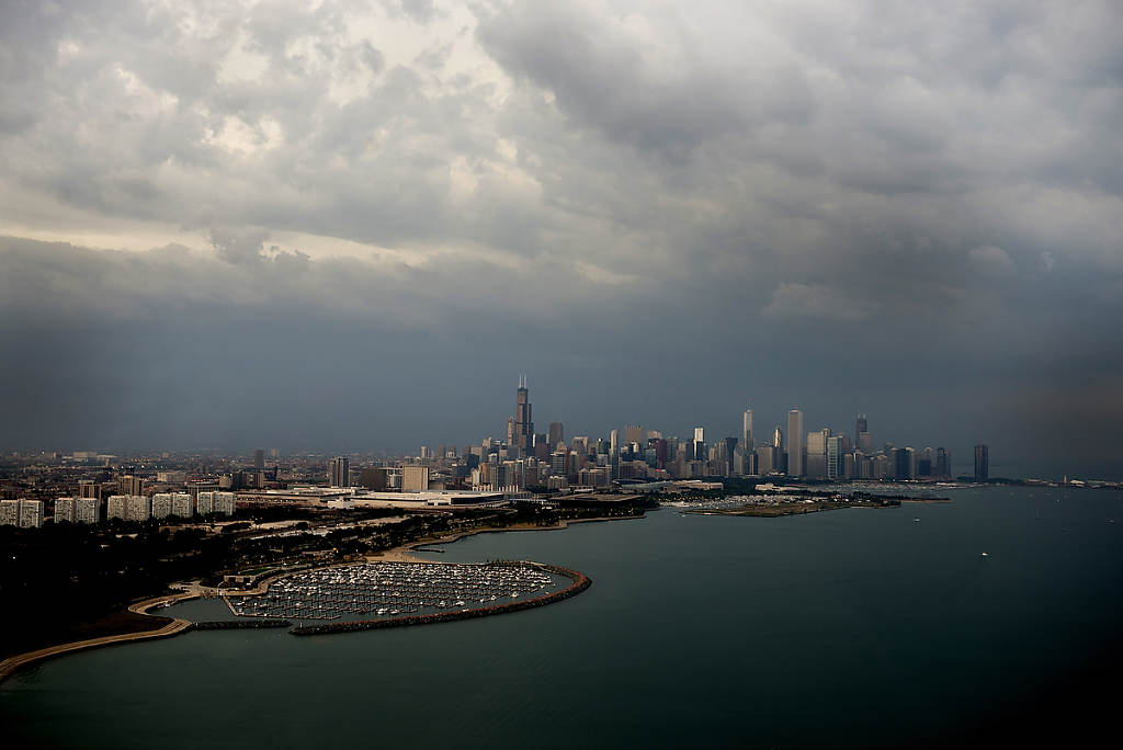 Architecture - Chicago Skyline from Lake Michigan photo by Chris Ocken