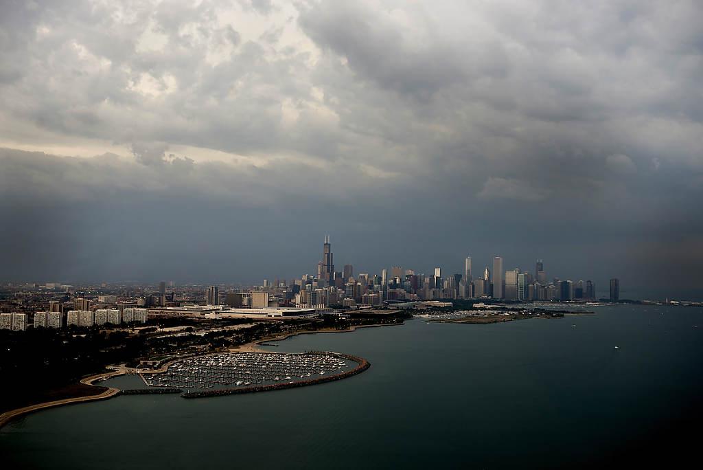Architecture - Chicago Skyline from Lake Michigan photo by Chris Ocken